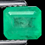 Genuine 100% Natural Colombian EMERALD .81ct 6.1 x 5.3 x 3.6mm Octagon