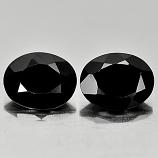 Genuine 100% Natural Black Spinel 1.80ct 8.8x7.0mm Opaque Thailand
