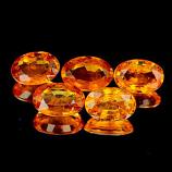 Genuine Orange Sapphire .57ct 6.1 x 4.2 x 2.8mm Tanzania VVS