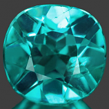 Genuine 100% Natural Aqua Apatite 1.35ct 6.8 x 6.7mm Cushion VVS Clarity