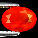 Genuine 100% Natural Fire Opal 1.24ct 9.0 x 7.0mm Oval VS1 Clarity