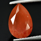 Genuine 100% Natural Orange Andesine 2.07ct 10.2 x 7.0mm Pear VS1 Clarity