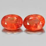 Genuine Orange Sapphire 0.92ct 7.0x5.0x3.0mm SI1 Madagascar