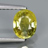 Genuine Yellow Sapphire .77ct 6.2 x 5.0mm Oval VS2 Clarity