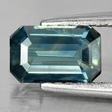 Genuine Blueish Green Sapphire .86ct 7.0 x 4.5mm Octagon VS1 Clarity