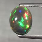 Genuine 100% Natural Cabochon Black Opal 1.39ct 10.0 x 7.5mm Ethiopia