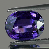 Certified Large Violet Sapphire 6.17ct 11.94 x 9.17mm Oval VS1 Clarity