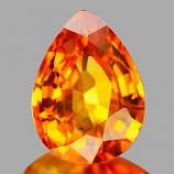 Genuine ORANGE SAPPHIRE 1.01ct 7.1 x 5.2 x 3.3mm Pear