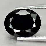 Genuine Black Sapphire 2.01ct 9.0 x 7.0mm Oval Opaque