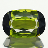 Genuine 100% Natural OLIVE GREEN TOURMALINE 1.75ct 9.7 x 6.4 x 3.6mm Cushion