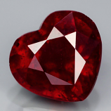 Genuine Ruby 2.08ct 7.5 x 7.0mm Heart I2 Clarity