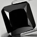 Genuine 100% Natural Black Spinel 3.57ct 8.7x8.7mm Opaque Thailand