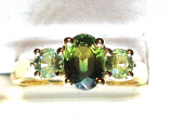 Green Sapphire Gold Ring 1.12ct VS1 Clarity Size 6.00
