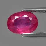 Genuine 100% Natural RUBY .91ct 7.0 x 5.0mm SI2 Clarity Oval