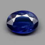 Genuine Blue Sapphire 0.72ct 6.5x4.8x2.2mm Oval SI1 Madagascar