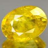 Genuine YELLOW SAPPHIRE .98ct 7.0 x 5.2 x 3.2mm Oval