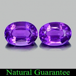Genuine 100% Natural Amethyst 0.78ct 7.2x5.2x3.6mm (2) VVS Brazil