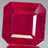 Genuine RUBY 3.89ct 8.0 x 8.0mm Octagon Cut