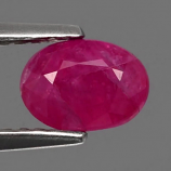 Genuine 100% Natural RUBY 1.08ct 6.7 x 5.0mm Oval SI2 Clarity