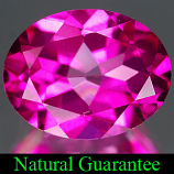 Genuine PINK TOPAZ 1.86ct 9.0 x 7.0 x 4.6mm Oval