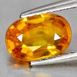 Genuine Orange Sapphire 1.44ct 8.1 x 5.5mm Oval VS1 Clarity