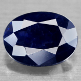 Genuine Midnight Blue Sapphire 1.75ct 8.1 x 6.2mm Oval Opaque