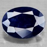 Genuine Midnight Blue Sapphire 1.75ct 8.1 x 6.2mm Oval Opaque