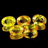 Genuine Yellow Sapphire .53ct 6.0 x 4.3 x 2.4mm Thailand VVS