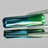 Genuine 100% Natural Blue & Green Tourmaline 1.57ct 13.8 x 3.6mm Octagon VS1 Clarity