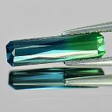 Genuine 100% Natural Blue & Green Tourmaline 1.57ct 13.8 x 3.6mm Octagon VS1 Clarity