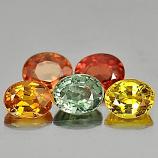 Genuine (5) Sapphires 1.82ct 4.6x3.6mm VS1 Tanzania