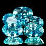 Genuine 100% Natural Blue Zircon 0.71ct 6.1 x 4.1mm Cambodia VVS