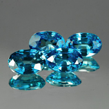 Genuine 100% Natural Blue Zircon .74ct 6.0 x 4.0mm Cambodia VS1