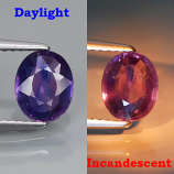 Genuine 100% Natural Color Change Sapphire 1.32ct 7.5x6.0 VS1 Madagascar