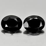 Genuine 100% Natural Black Spinel 1.82ct 9.1x7.1mm Opaque Thailand