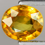 Genuine YELLOW SAPPHIRE 1.13ct 7.5 x 5.9 x 2.9mm Oval