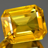 Genuine YELLOW SAPPHIRE 1.37ct 7.1 x 5.9 x 3.1mm Octagon