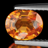 Genuine 100% Natural MANDARIN GARNET 1.50ct 7.6 x 6.3 x 3.5mm Oval