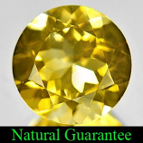 Genuine 100% Natural Citrine 3.27ct 10.0 x 10.0mm Round VS1 Clarity