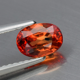 Genuine ORANGE SAPPHIRE 1.16ct 6.8 x 4.7 x 3.7mm VS2 Oval