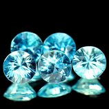 Genuine 100% Natural Blue Zircon 0.78ct 5.1 x 5.1mm Cambodia VVS