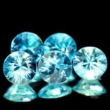 Genuine 100% Natural Blue Zircon 0.78ct 5.1 x 5.1mm Cambodia VVS