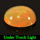 Genuine 100% Natural Cabochon Orange Opal 1.33ct 9.4x7.6x4.6mm Semi Transparent Ethiopia