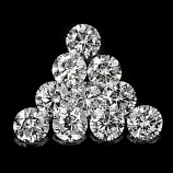 Genuine 100% Natural Set DIAMONDS VS2 (10) 1.7 x 1.7mm Round Diamond Cut