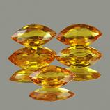Genuine Yellow Sapphire 0.45ct 7.0 x 3.5 x 2.3mm Tanzania VVS