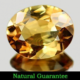 Genuine 100% Natural Champagne Topaz 2.10ct 9.2 x 7.3mm Brazil VVS