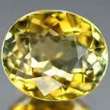 Genuine 100% Natural GREEN & YELLOW TOURMALINE 1.56ct 7.6 x 6.5 x 4.5mm Oval
