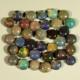 Genuine Set of 35 Crystal Welo Cabochon Black Opal 6.05ct 3.8 to 4.0mm Round