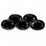 Genuine 100% Natural Black Spinel 1.04ct 7.1x5.1mm Opaque Thailand