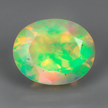 Genuine 100% Natural Mulit Color Opal 1.67ct 10.0 x 8.0 x 5.8 Ethiopia